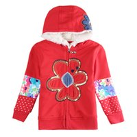 Wholesale Brand New Red long sleeved Hoodie cotton cashmere with children one color drop shipping