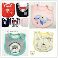 Wholesale Cotton Baby Bibs Waterproof Baby Bibs Infant Saliva Towels Cartoon Baby Wear With pieces for styles