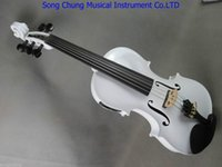 beautiful ebony - Beautiful white colors strings electric acoustic violin