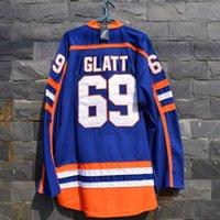 Wholesale Vanled Doug quot The Thug quot Glatt GOON Movie Halifax Highlanders Hockey Jersey New Stitched Sewn Blue size S small xl