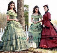art deco victorian - Nina Dobrev Victorian evening dresses Vampire Diaries Dress Katherine Pierce Pastel Green masquerade ball gowns Special Occasion Dress