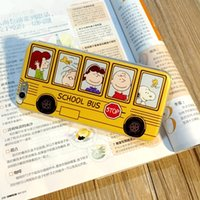 apple iphone school - Cartoon Snoopy School Bus Soft TPU Phone Case Cover For Apple iPhone Pink Yellow Back Slim Cushion Non slip Grip Protective Cover Shockproof