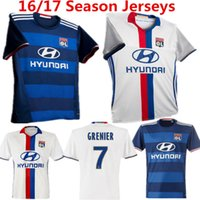 Wholesale The French league football season Home Court Lyon short sleeved football clothes