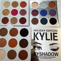 Wholesale New Colors Kyshadow Kylie Eye Shadow Kyshadow kit kylie Jenner pressed powder eye shadow Kylie Cosmetics the Bronze Palette Kyshadow