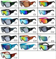 big beach sunglasses - 10pcs Men s Sunglasses Brand Designer Oculos de Sol Big Frame Face Domo Men Sports Coating Eyewear Gafas De Sol Masculino