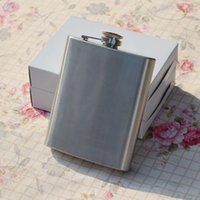 Wholesale 8oz Mirror Polished Stainless Steel Portable Wine Hip Flask Bear Cap Funnel Drinkware
