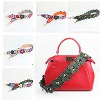 Wholesale Colorful Flowers Bag Strap Handbag Accessories Spring Strap You Colorful Flowers PU Leather Shoulder Bag Straps LJJK594