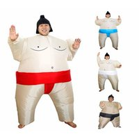 adult sumo suits - Adults and Children Inflatable Sumo Mascot Suits Wrestler Costume Outfits Fat Man Airblown Sumo Run Halloween