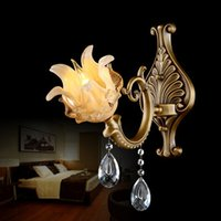Wholesale High end wall lights wall lamp copper crystal wall lighting European American luxury living room bedroom hotel balcony corridor aisle lamps