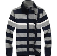 Wholesale 2017 Custom made Winter Male Jumpers Famous brand Golf pony men s Striped sweater Cardigan winter warm jumpers pullover M xl