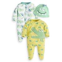 baby crocodiles - Spring baby Cartoon crocodile long sleeve Jumpsuit boys animal cotton Rompers hat cap set Kids Romper Bodysuits One Piece Lovekiss A76