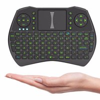 Wholesale Rii I9 Smart Fly Air Mouse Remote Backlight i8 GHz Wireless Keyboard come with Touchpad Control For MXQ M8S X92 TV Box Free DHL