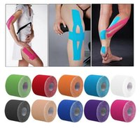 Wholesale Kinesiology Tape Roll Cotton Elastic Adhesive Muscle Sports Tape Support Elbow Knee Adhesive Bandage Pads Physio Strain Support KKA1286