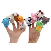animal sounds zoo - 10pcs Zoo Cartoon Lovely Farm Animal Finger Plush Cloth Puppets Baby Toy Bed Story Telling Kids Favor Educational Gift