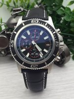 belt buckles store - buyer satisfied store brand watches men superocean ii herie watch leather belt watch quartz chronograph watch men dress wristwatches