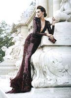 Зухаир мурад красное кружевное платье