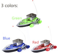 Wholesale New Arrival Electric Wireless Mini RC Bait Boat Fast RC Fishing Adventure Lure Bait Boat with US Plug EU Plug for Finding Fish