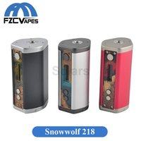 Original SIGELEI Asmodus Snowman 218 Box Mod 218W Modules de contrôle de température Dual 18650 Batterie 510 Thread DHL EMS Free