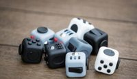 Wholesale 9 Color Fidget cube the world s first American original decompression anxiety Toys Adults and Children Novelty Fidget Cube Toy B001