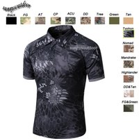 Wholesale Outdoor Camo Hunting Shooting Shirt Battle Dress Uniform Tactical BDU Army Combat Clothing Quick Dry Camouflage T Shirt SO05