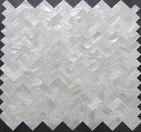 Wholesale 2017 New style Herringbone mosaics tiles white mother of pearl tile kitchen backsplash bathroom tiles wall decoration tiles