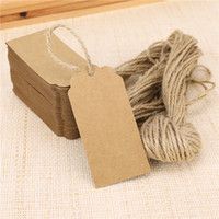 Wholesale 2016 Fashion Wedding Card Blank Kraft Paper Hang Tags Wedding Party Favor Label Price Gift Cards Wedding Decoration Wedding Favors And Gifts