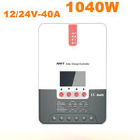 Wholesale Selling Laptop Chargers - Hot Sell MPPT Solar Controller 40A Regulator 12V 24V 1040W Solar Charger Battery Charger For Off Grid Solar Power System