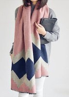 Wholesale 2017 Fashion Women Cashmere scarf shawl Large Warm Winter Scarf Plain knit mixed color Scarf with Style