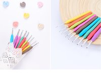 Wholesale Crochet knitting needle weaving tools models suit crocheted color more Soft rubber practical