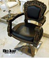 Wholesale European glass reinforced plastics hairdressing chair Hair salons haircut chair High class european style haircut chair
