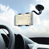 arm pda - car holder phole holder windshield car mount car cradle holder universal double clip degree rotation long arm neck
