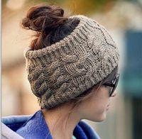 Wholesale Christmas street fashion women s adults lady crochet winter autumn empty wool hats womens wool caps wide headbands children s hats