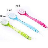 bath grip handles - New Scrubber Shower Bath Brush Helper Health Care Grip Handle Exfoliation Body Brush Skin Rubbing Spa I069