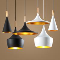 bedroom office designs - New Arrival Indoor Light Tom Dixon Copper Design Shade Pendant Lamp E27 Bulbs Beat Light Ceiling Lamp Black White Home Decoration Set