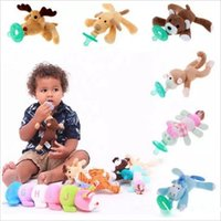 other baby boys stuff - Baby Pacifier Clips Pacifiers Nibbler Animal Plush Nipple Soother Toys Boy Clips Chain Animal Nipple Dog Monkey Animal Pet Stuffed Dolls G43