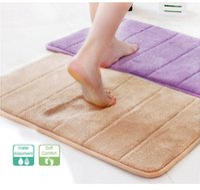 Wholesale VANRA Bath Mat Memory Foam Bath Rugs Anti slip Anti bacterial Non slip Bathroom Mat Soft Bathmat Bathroom Carpet x cm