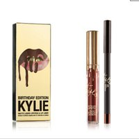 Wholesale 2016 New Fashion High Quality Colors KYLIE LIP KIT Velvetine Liquid Matte Lipstick Long Lasting Makeup