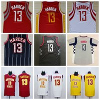 arizona states - James Harden Arizona State Jersey Sun Devils College Basketball Jersey Stitched Yellow Red White Men s James Harden Jerseys