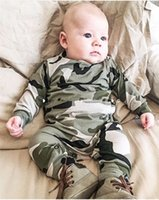 baby sweater sets - 2017 Autumn winter baby clothes sets toddlers camouflage jumper sweater with matching long pants two peice sets kids cotton clothing suit