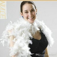 Wholesale 200pcs Glam Flapper Dance Fancy Dress Costume Accessory Feather Boa Scarf Wrap Burlesque Can Saloon Z903