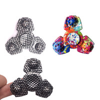 Black plastic shapes - Newest Special Shape EDC Fidget Spinner Camouflage Triangle Tri Spinner For Autism And ADHD Children Colorful Hand Spinner Toys DHL Free