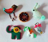 Wholesale On Set Cartoon Animal kids Brooch Jewelry Set Accessories Cheap China Brooch