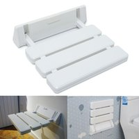 bench mount - Different Price Wall Mounted Foldable Stool Bathroom Shower Seat Folding Spa Bench Space Saving White Color