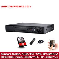 al por mayor 16 canales de seguridad-LLNIVISION HD vigilancia del CCTV 16ch AHD 1080N 720P grabación de la seguridad DVR HDMI 1080P 16 canales DVR NVR WIFI Video Recorder