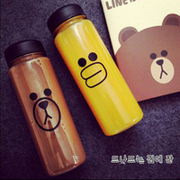 Wholesale My Water Bottle ml Fashion Bear Sports Shaker Bottle For cicycle outdoor Juice Drinkware Readily Space Cup Bottle Chicken Bear