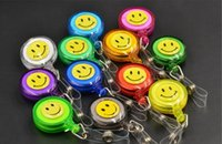 badge reel holder - Smile face Badge rell Retractable badge reel card holder for lanyard or ID card customized gifts BR002