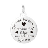 Pendant Necklaces Mexican Women's Grandma Keychain Charm Bracelet Pendant Valentines Gift for Mom Grandmother Stainless Steel Family Women Friend Jewelry