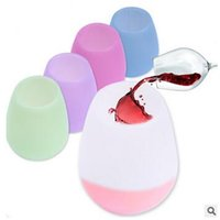 Wholesale 5 Colors Silicone Wine Glasses Unbreakable Party Camping Picnic Travel Wine Cups Portable Drinking Cups Drinkware Beer Mug CCA5667