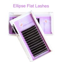 Wholesale Hollow Ellipse Flat Lashes Extensions light weight factory supplied large stock immediate shipping stars mix length