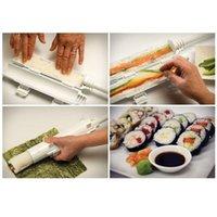 Wholesale 60pcs Multifunctional Sushi Tools DIY Rice ball hot kitchen tools Brand Sushi bazooka Sushezi Roller KIT